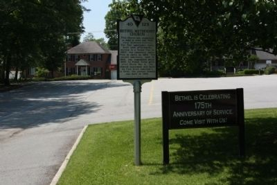 Bethel Methodist Church Marker looking west towards Willingham Drive image. Click for full size.