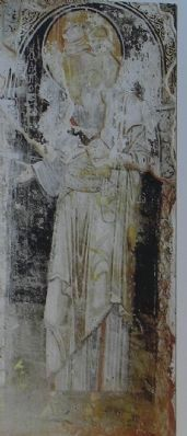 "An ancient rendering of St. John on ""The Life of St. John"" marker image. Click for full size."