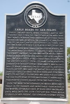 Early Roads To San Felipe Marker image. Click for full size.