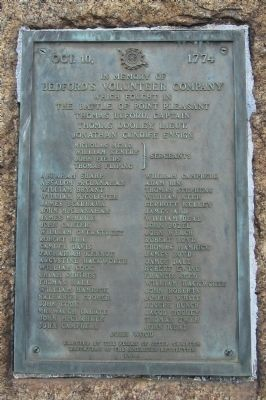 Bedford's Volunteer Company Marker image. Click for full size.