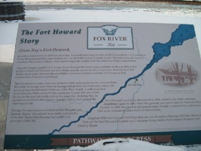 The Fort Howard Story Marker image. Click for full size.