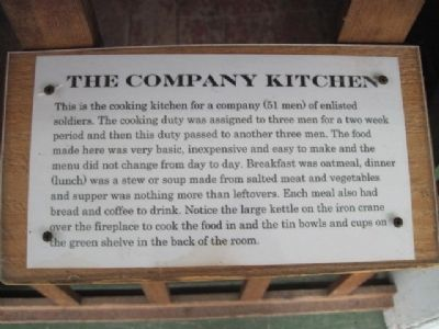 Fort Howard Kitchen Marker image. Click for full size.