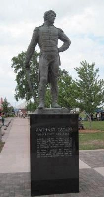 Zachory Taylor Statue at actual site of Fort Howard. Located on other side of bridge from marker. image. Click for full size.
