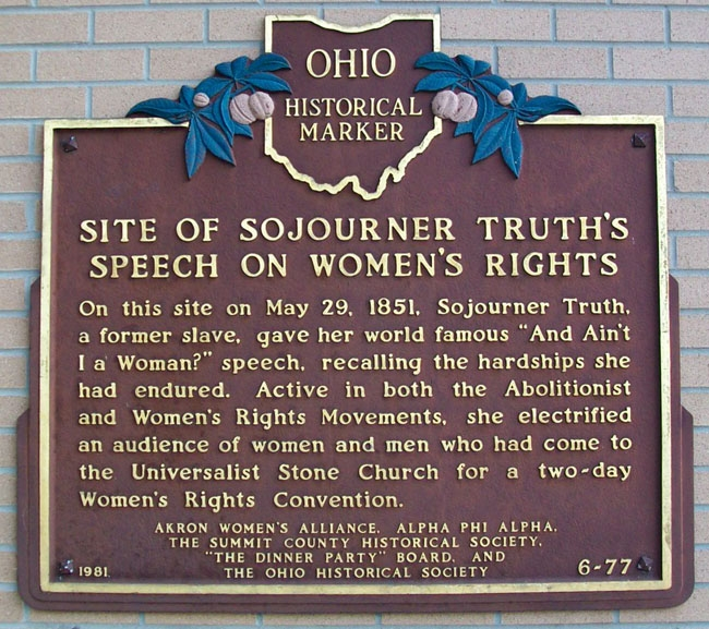 an analysis of sojourn truth converted speech aints i a woman Sojourner truth: ain't i a woman she took the name sojourner truth and traveled throughout the eastern most famous speech, ain't i a woman.