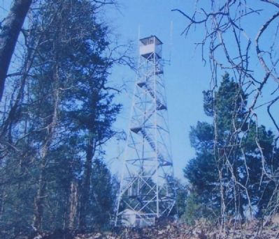 Parsons Mountain Marker -<br>Parsons Mountain Fire Tower image. Click for full size.