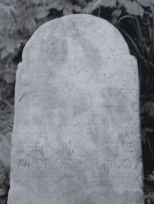 Parsons Mountain Marker -<br>1760 Long Cane Massacre Grave Marker image. Click for full size.