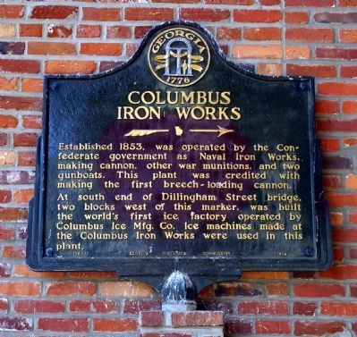 Columbus Iron Works Marker image. Click for full size.