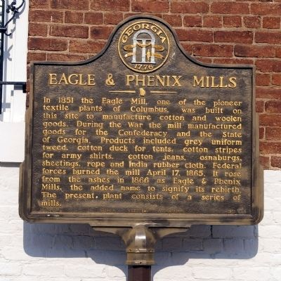 Eagle & Phenix Mills Marker image. Click for full size.
