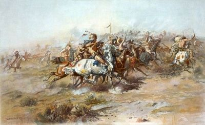"""The Custer Fight"" image. Click for full size."