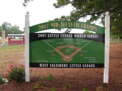 2007 Mid-Atlantic Champs - West Salisbury Little League image. Click for full size.