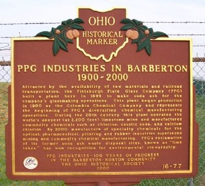 PPG Industries in Barbeton Marker image. Click for full size.
