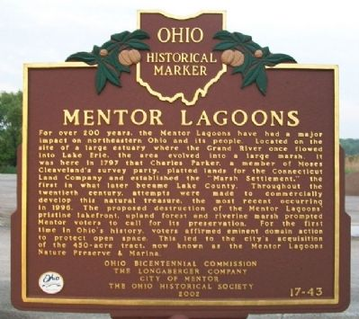 Mentor Lagoons Marker image. Click for full size.