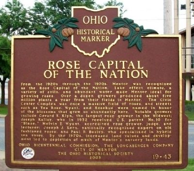 Rose Capital of the Nation Marker image. Click for full size.