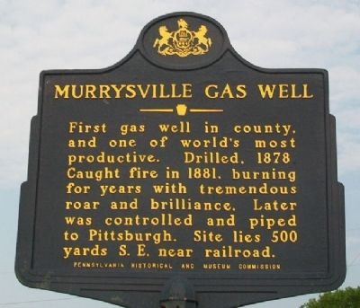 Murrysville Gas Well Marker image. Click for full size.
