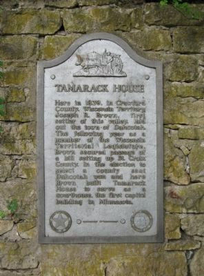 Tamarack House Marker image. Click for full size.