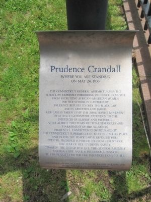Prudence Crandall Marker image. Click for full size.