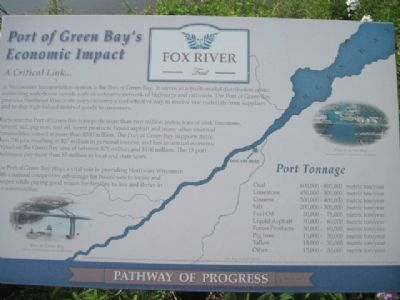 Port of Green Bay's Economic Impact Marker image. Click for full size.