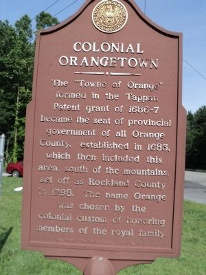Colonial Orangetown Marker image. Click for full size.