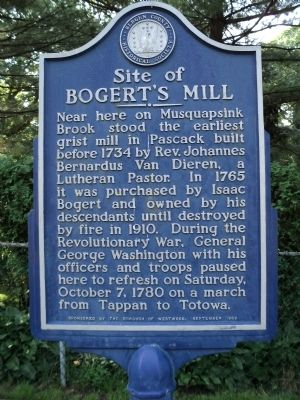 Site of Bogert's Mill Marker image. Click for full size.