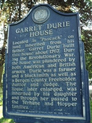 Garret Durie House Marker image. Click for full size.