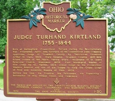 Judge Turhand Kirtland Marker image. Click for full size.