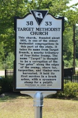 Target Methodist Church Marker image. Click for full size.