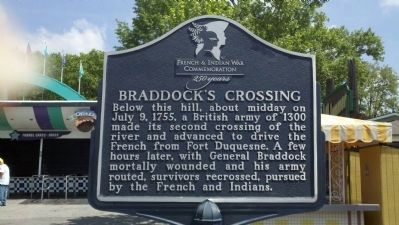 Braddock's Crossing Marker image. Click for full size.