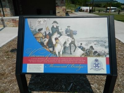 Veterans of the American Revolution Memorial Bridge Marker image. Click for full size.