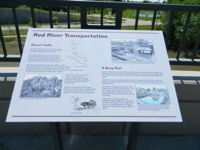 Red River Transportation / A Busy Port Marker image. Click for full size.