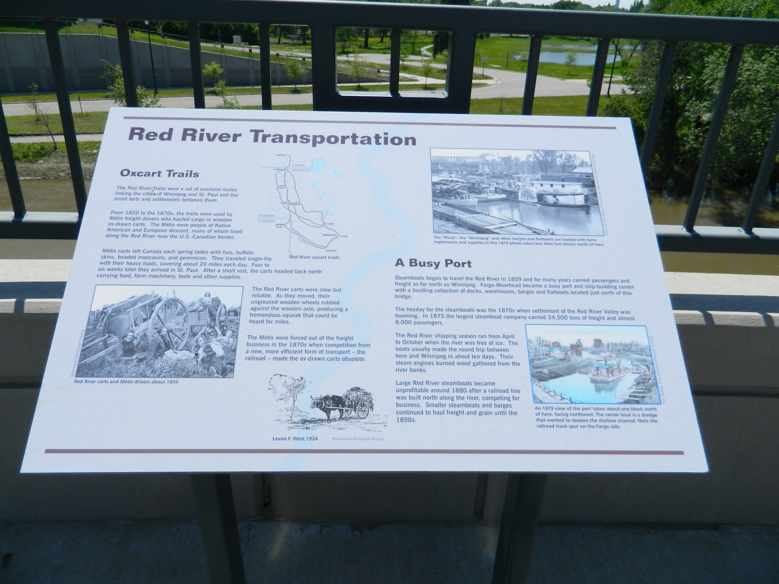 Red River Transportation / A Busy Port Marker