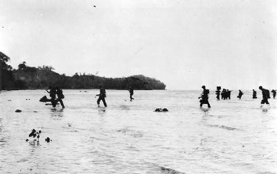 U.S. Marines landing at Tulagi image. Click for full size.