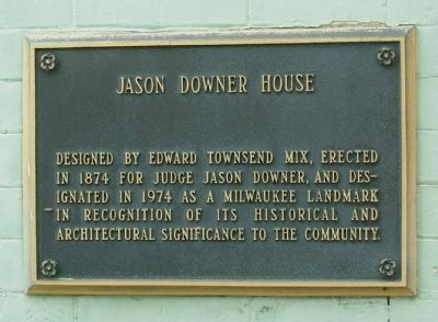 Jason Downer House Marker image. Click for full size.
