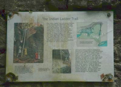 The Indian Ladder Trail Marker image. Click for full size.