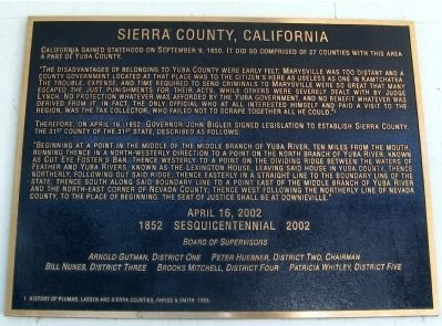 Sierra County, California Marker image. Click for full size.
