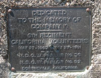 Cannon Point - California Vounteers Dedication Marker image. Click for full size.