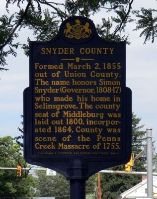 Snyder County Marker image. Click for full size.