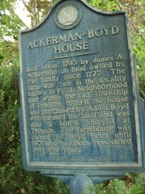 Ackerman-Boyd House Marker image. Click for full size.