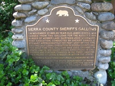 Sierra County Sheriff's Gallows Marker image. Click for full size.