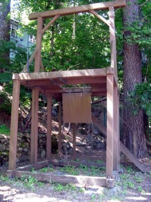 Sierra County Sheriff's Gallows image. Click for full size.