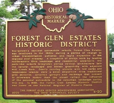 Forest Glen Estates Historic District Marker image. Click for full size.