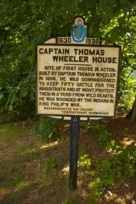 Captain Thomas Wheeler House Marker image. Click for full size.