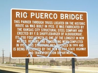 Rio Puerco Bridge Marker image. Click for full size.