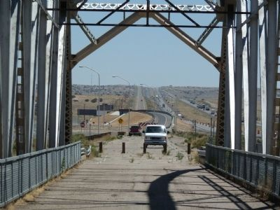 Rio Puerco Bridge - view east image. Click for full size.