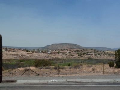 Pueblo of Laguna Marker - view north to the Pueblo area image. Click for full size.