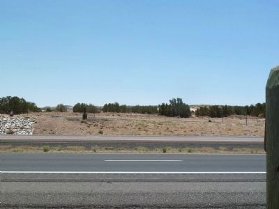 Pueblo of Laguna Marker - view south across I40 image. Click for full size.
