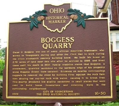 Boggess Quarry (Side B) Marker image. Click for full size.