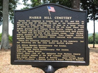 Harris Hill Cemetery Marker image. Click for full size.