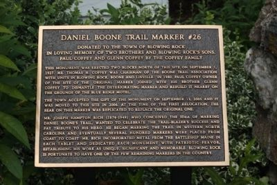 about Daniel Boone Trail Marker #26 image. Click for full size.