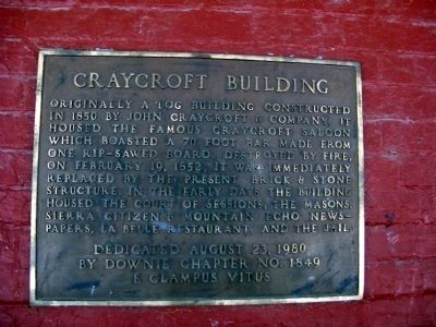 Craycroft Building Marker image. Click for full size.