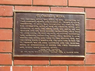 St. Charles Hotel Marker image. Click for full size.